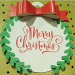 """This was a gift tag that I blew up to 12x12"""""""