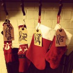 Giant gift tags as stocking labels
