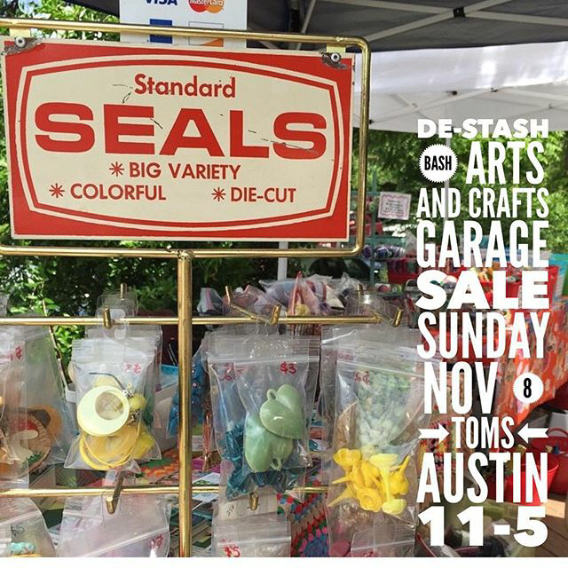 Austin de stash bash an arts and crafts garage sale for Arts and crafts garage